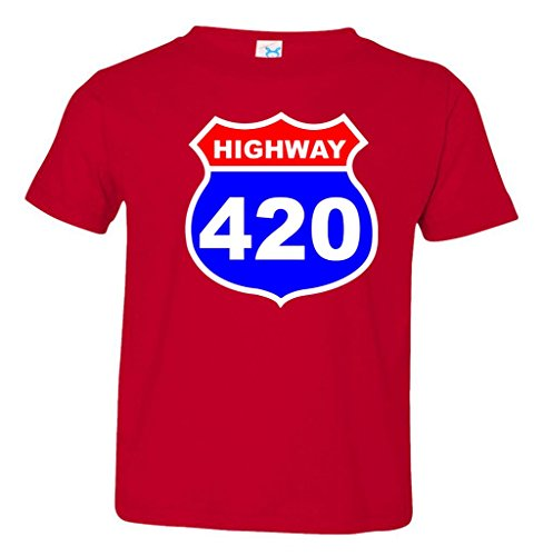 Highway 420 Sign Weed Toddler T-Shirt