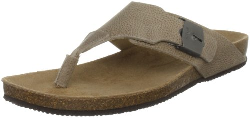 Scholl Men's Reggie Leather Taupe Sandal F245701062440, 44 EU