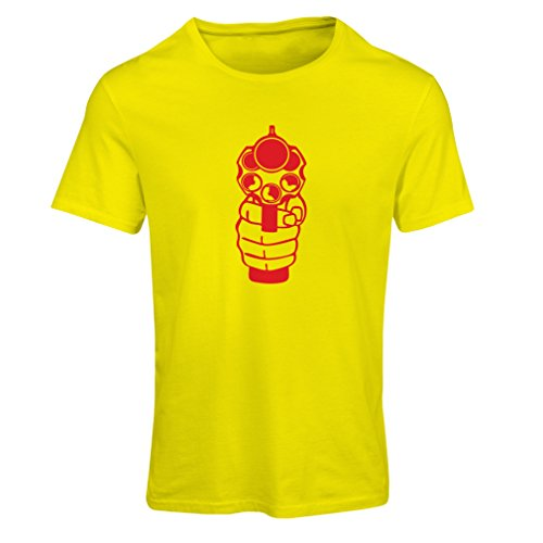 N4061F T-shirt female Sparare (XX-Large Giallo Rosso)