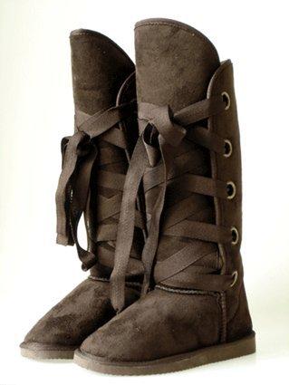 Couture Discount Damenstiefel Fell Boots (ST49C), braun, Gr. 41