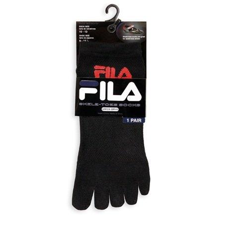 Fila FILA Mens Skele-toes Toe Socks No-show BLACK
