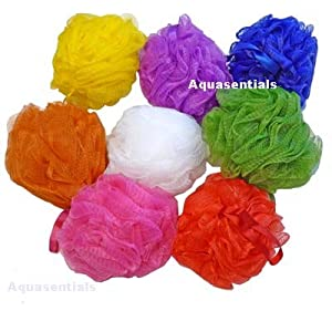 Aquasentials Small Mesh Pouf Sponge (6 Pack)