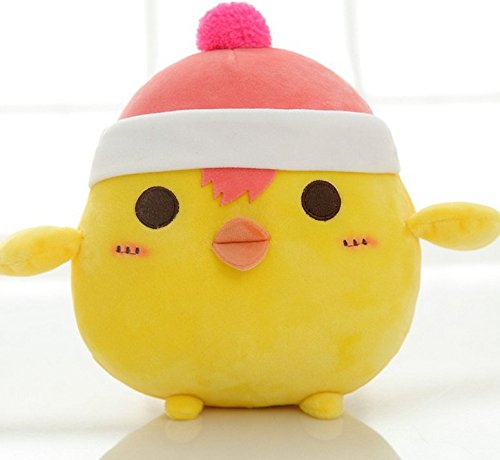 Stuffed Short Plush Shaped Small Yellow Chicken Large Pillow Cushions Nap Doll Home Essential (10cm Tall, Lovely)