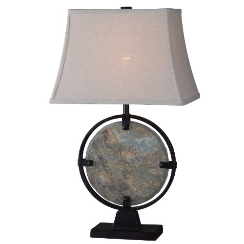 Kenroy Home 32226SL Suspension Table Lamp, Natural Slate (Entry Table Lamp compare prices)