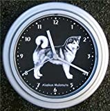 Quartz wall clock Alaskan Malamute Dog