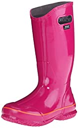 Bogs Women\'s Solid Rain Boot, Berry, 12 M US