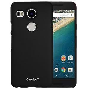 Casotec Ultra Slim Hard Shell Back Case Cover for LG Nexus 5X - Black