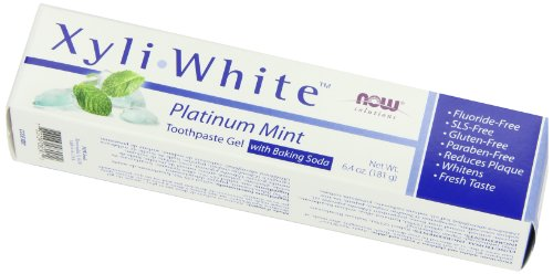 Now Foods Xyliwhite, Baking Soda Toothpaste, Platinum Mint, 6.4-Ounces
