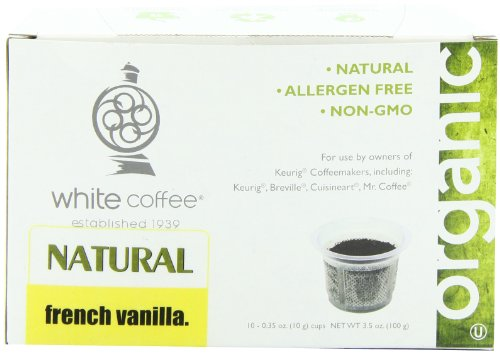 White Coffee Single Serve Coffee, French Vanilla,