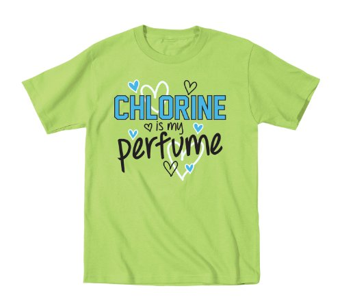 Chlorine Is My Perfume Swim Meet Team Novelty Sport - Youth T-Shirt - Key Lime - Large