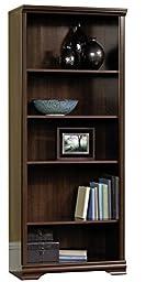 Sauder Furniture Carolina Estate 5-Shelf Adjustable Bookcase, Cherry | 411897