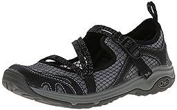 Chaco Women\'s Outcross Evo Hiking Shoe, Black, 7.5 M US