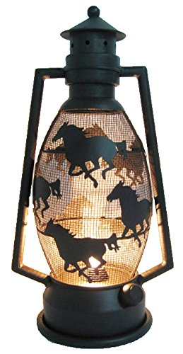 LL Home Metal Horse Lantern Light