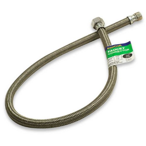 Brass Craft B8-30A F 1/2-Inch FIP by 1/2-Inch FIP by 30-Inch Brass Craft B8-30A F Faucet Connector, White