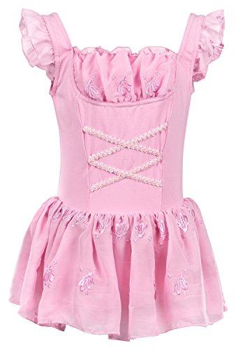"""Ballettanzug """"Mali"""" mit 3-lagigem, besticktem Chiffon Röckchen, rosa und weiß"""