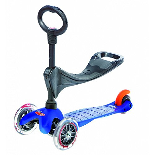 Micro Mobility Mini 3in1 - Scooters (Kids, Asphalt, Blue, Polyurethane) (Mobility Scooter Seat compare prices)