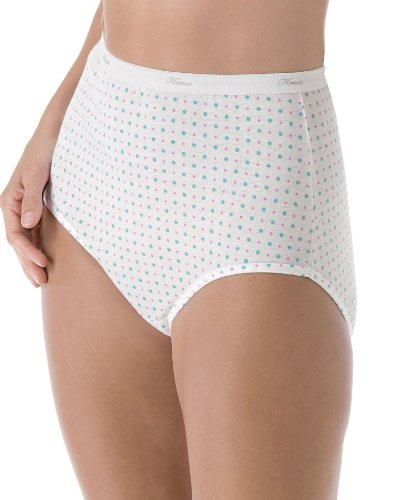 Hanes Plus Size Women's Cotton Briefs Assorted
