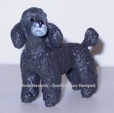 Bullyland Black Poodle Dog Figure