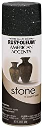 Rust-Oleum 7991830 American Accents Stone Textured Finish Spray Paint - BLACK GRANITE