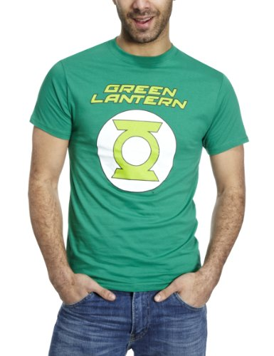 DC Comics Green Lantern Logo Men's T-Shirt Green DC015GS Small