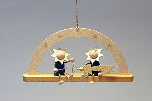 Baumbehang Schwibbogen Sterne und Triangel 5 cm Christbaumschmuck Seiffen NEU