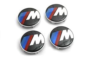 68MM BMW M Motorsport Wheel Center Hub Caps Set 4pcs