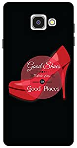 The Racoon Lean Good shoes hard plastic printed back case / cover for Samsung Galaxy A7 (2016)