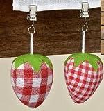 Tischdeckenbeschwerer 4tlg Erdbeeren sortiert Baumwolle