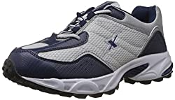 Sparx Mens Navy Blue and Silver Running Shoes - 9 UK (SM-04)