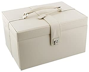 Dulwich Designs Naples Cream Leather Jewellery Box (XL) 70347       reviews and more information