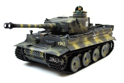 High Collection 1/16 Scale Custom Paint Radio Remote Control German Tiger I Tank Air Soft Rc Battle Tank Smoke & Sound (Upgrade Version w/ Metal Gear & and more)