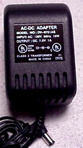 Dv-0751As Ac-Dc Power Adapter Dc7.5V 1A Output Class 2 Trans 120V