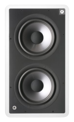 """Atlantic Technology Iwts-28Sub Dual 8"""" Passive In-Wall Subwoofer (Single, Black)"""