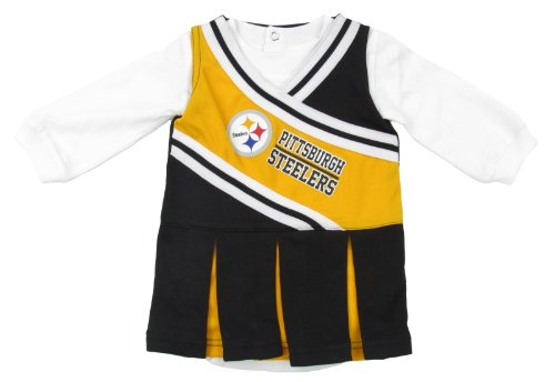 NFL Pittsburgh Steelers Cheerleader Dress with Creeper Bodysuit (12 Months) at Amazon.com