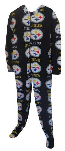 Pittsburgh Steelers Guys Onesie Footie Black Pajama for men