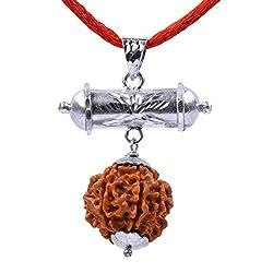 Shiva Rudraksha Ratna Power Full Seven face Rudraksha Laxmi Kavach in 92.5 Hallmarked Silver