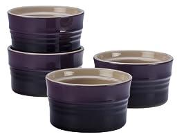 Le Creuset Stoneware Set of 4 Stackable Ramekins, 7-Ounce, Cassis
