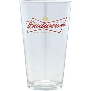 amazon com budweiser logo pint glasses set of 4 beer