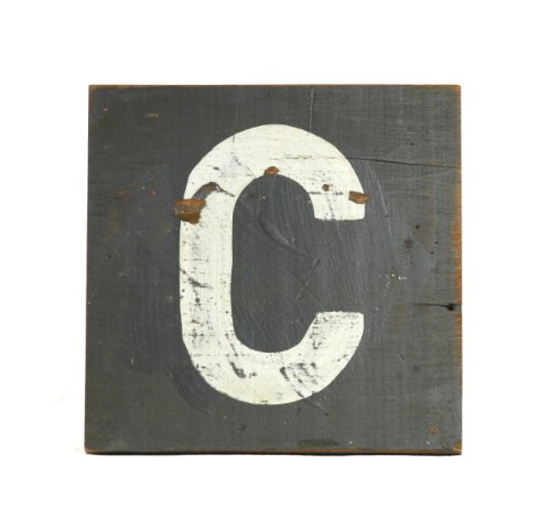 ZENTIQUE Wooden Letter, Small, Monogrammed C - 1