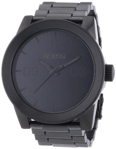 Nixon A346001-00 - Orologio da polso uomo, acciaio inox, colore: nero