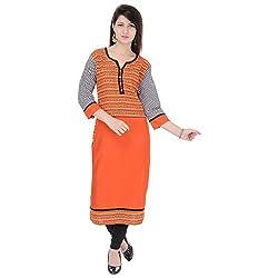 Style N shades Printed Orange Colour Kurti