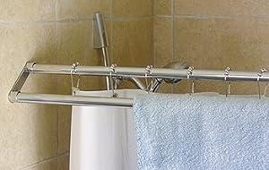 Amazon Dual Shower Curtain Rod Double Shower Rod