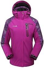 MAKINO Women39s Waterproof Thermal Two-piece Jacket for Camping - Dark purple - L