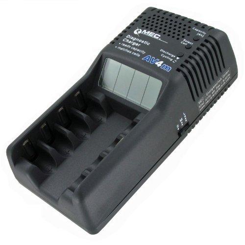 AV4m Akku-Ladegerät Trainer Diagnoseladegerät mit LCD-Display und Entladefunktion