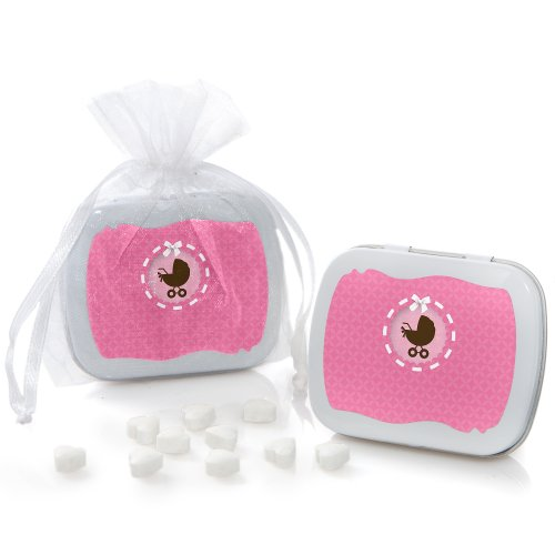 Girl Baby Carriage - Mint Tin Party Favors (Set Of 12) front-684833