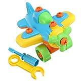DIY Small Plane Blocks Puzzle Kids Educational Toy
