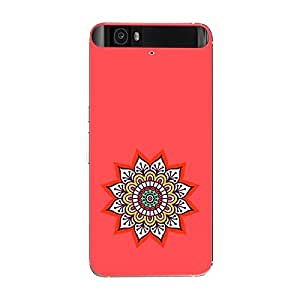 Skin4gadgets Artistically Drawn Mandala Tattoo In Pastel Colors -Orange Red, No.3 Phone Skin for GOOGLE NEXUS 6P