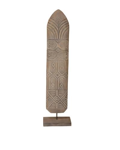 Jeffan Shield Asmat Wood Standing Decoration