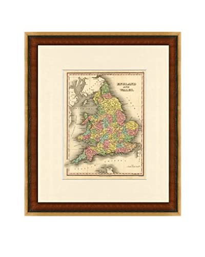 Map Antiquities Antique Map Of England & Wales, 1824-27, Multi