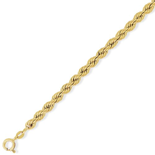 9Ct Gold Hollow Rope Chain 28 inch/5.5mm